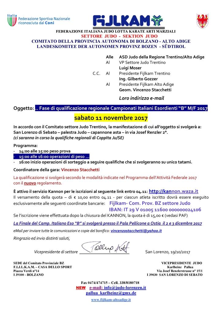 Qualy CampIta EsoB 11 11 2017