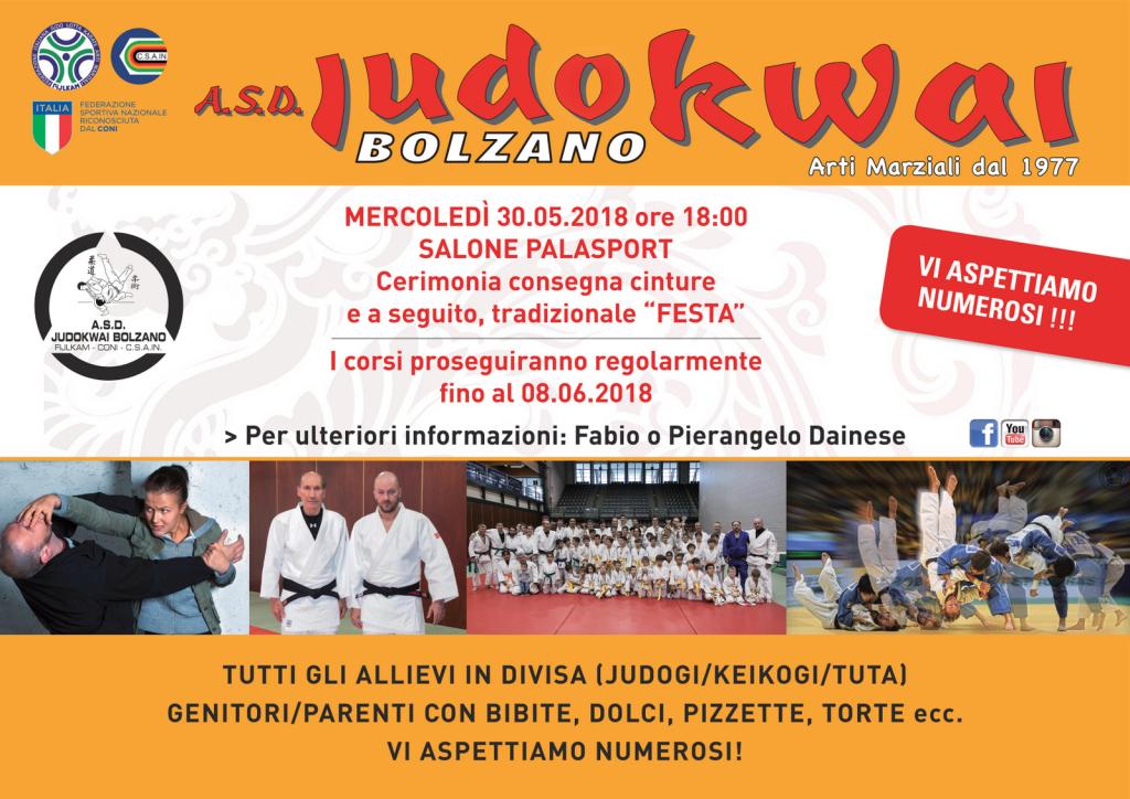 A.S.D. Judokwai Bolzano_Cerimonia e Festa 2018