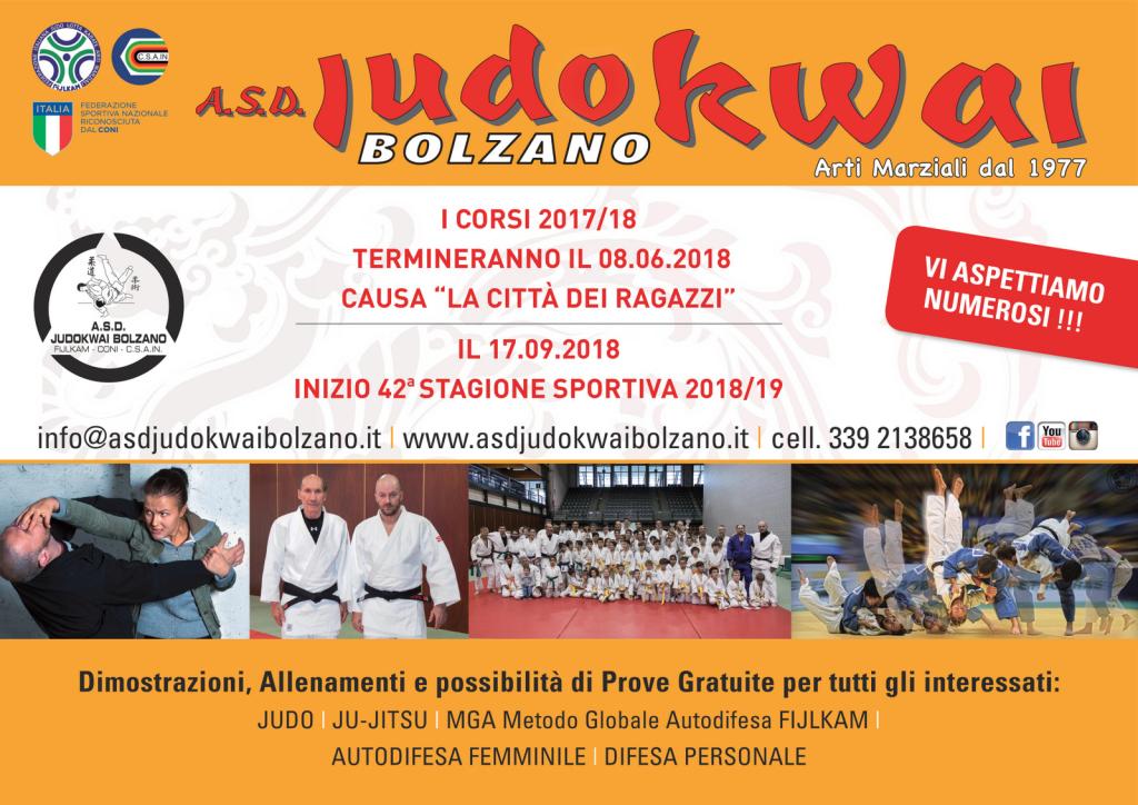 A.S.D. Judokwai Bolzano_Fine-inizio Corso 2018