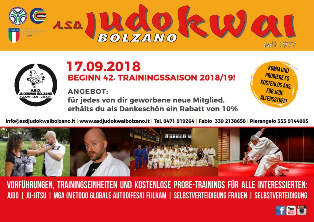 A.S.D. Judokwai Bolzano 2018_2019 Dojo 1