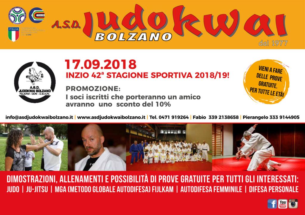 A.S.D. Judokwai Bolzano 2018_2019 Dojo
