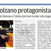 Quotidiano Alto Adige 26.06.2016 pag. 38