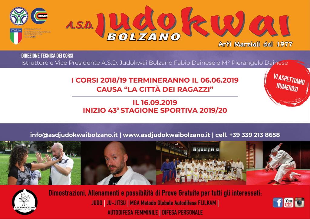 A.S.D. Judokwai Bolzano_A4_Fine-Inizio Corso 2019_Locandina_New