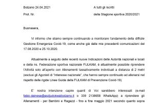 Sondaggio Ripresa Corsi 44° Stagione sportiva 2020 2021   24.04.2021_1