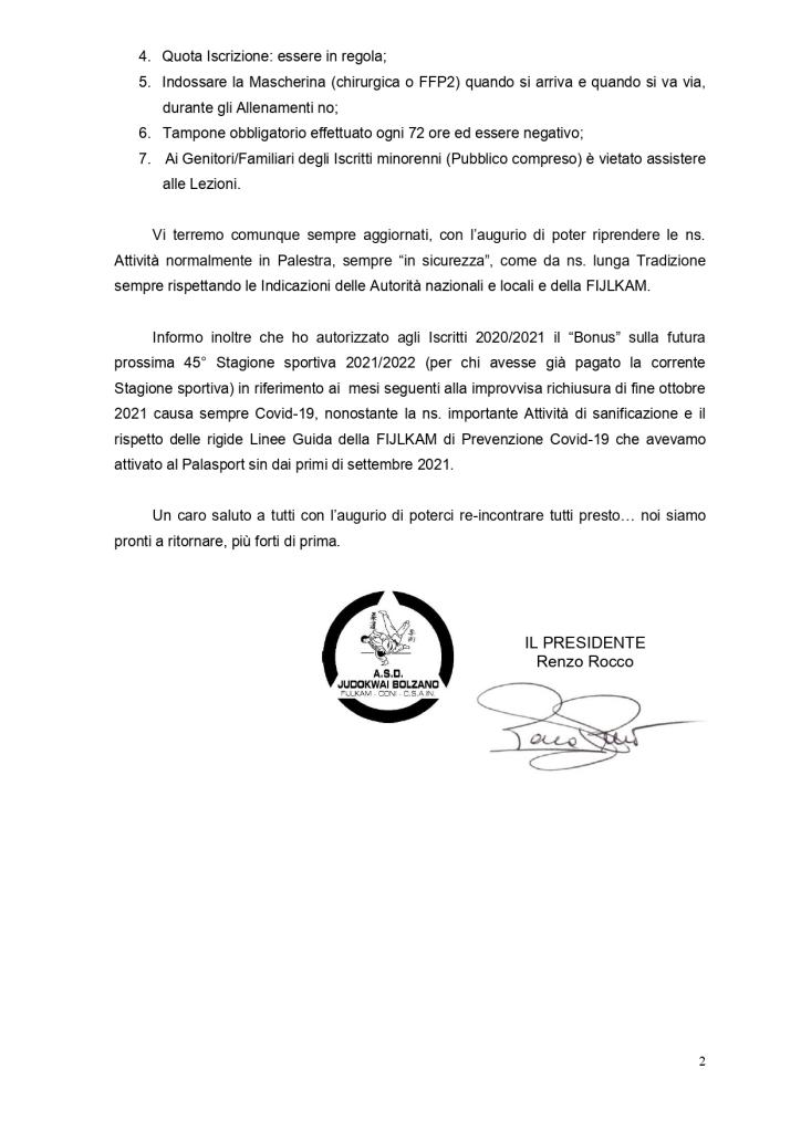 Sondaggio Ripresa Corsi 44° Stagione sportiva 2020 2021   24.04.2021_2