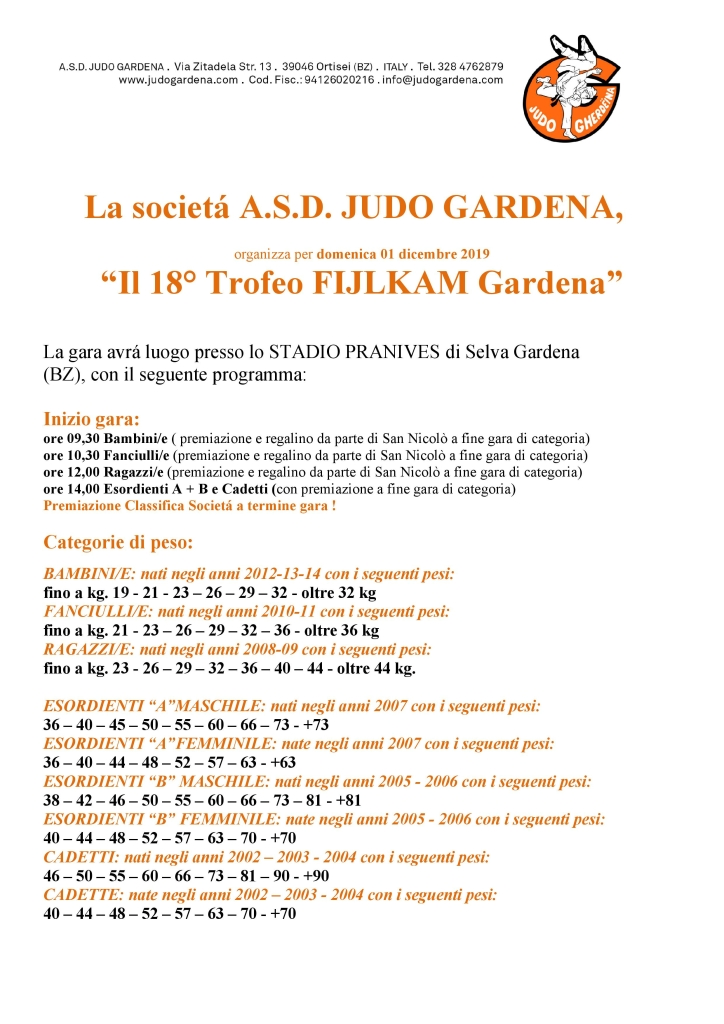 18° Trofeo Fijlkam AA 2019  1
