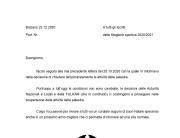 Chiusura temporanea Corsi 44° Stagione sportiva 2020 2021