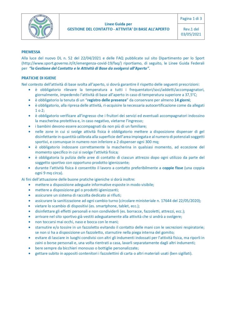 20210503_Linee Guida Gestione del Contatto_ Attività di Base all'Aperto_page-0001