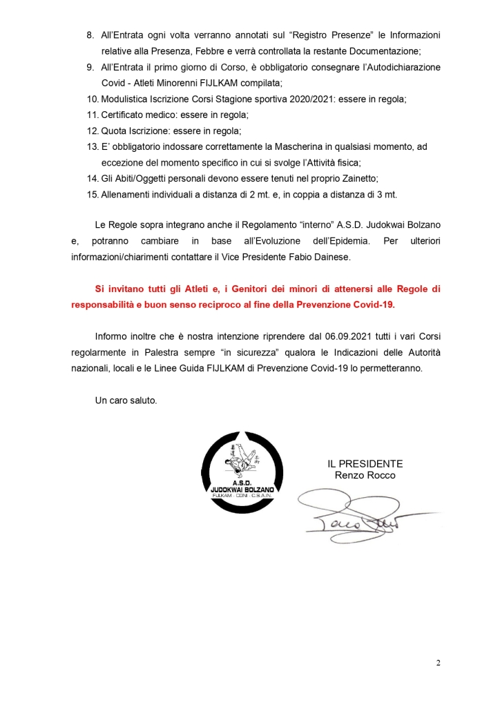 A.S.D. Judokwai Bolzano   Ripresa Corsi 44° Stagione sportiva 2020 2021 di Judo con contatto in sicurezza per Bambini e Ragzzi   Campo da calcio Resia B   dal 18.05.2021_page-0002